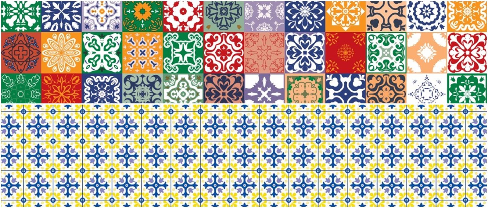 Decoração: azulejo português e ladrilho hidráulico são as novas inspirações para toalhas de mesa