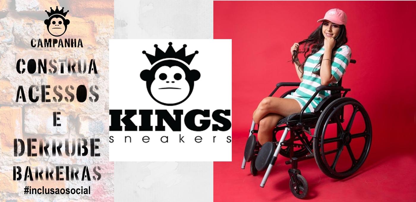 Kings Sneakers lança campanha com modelo com deficiência física
